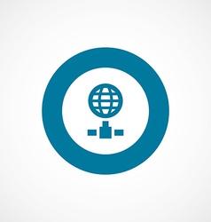 Internet bold blue border circle icon vector