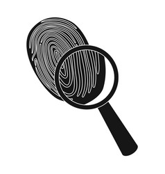 investigation by fingerprint magnifier crime vector image vector image