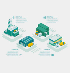 Isometric logistics and delivery delivery of vector