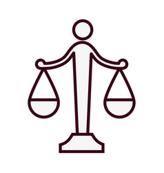 Law scale icon vector