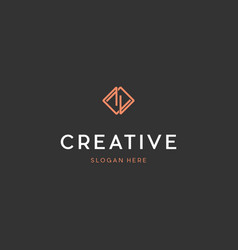 Letter z outline luxury creative business logo vector