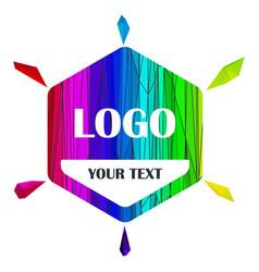 Logo tag rainbow vector