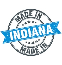 Made in Indiana blue round vintage stamp vector