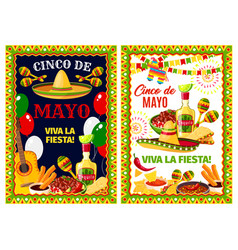 Mexican cinco de mayo holiday greeting banner vector