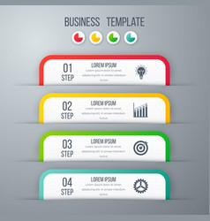 Modern infographics template with 4 options vector