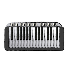 Musical piano key keyboard melody instrument vector