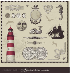 nautical design elements vector image