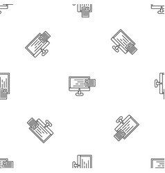new web mail pattern seamless vector image