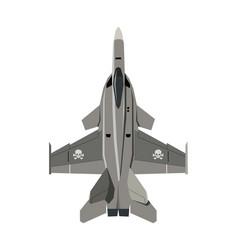 nursery military airplane drawing army plane vector image
