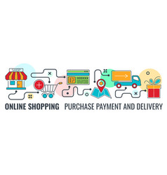 online internet shopping banner vector image