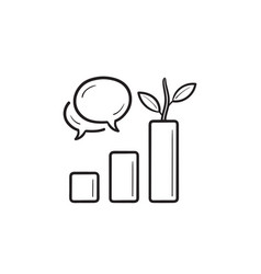 organic reach hand drawn outline doodle icon vector image