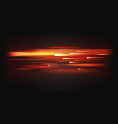 Red light fast motion speed lines movement vector