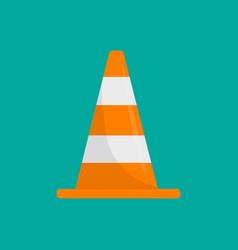 road cone icon flat road cone icon vector image