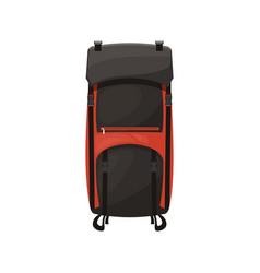 rucksack knapsack or trekking backpack isolated vector image