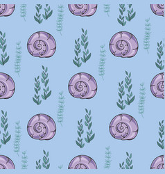 Sea pattern shell color vector