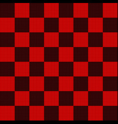 Seamless pattern in black and red geometric mosaic vector