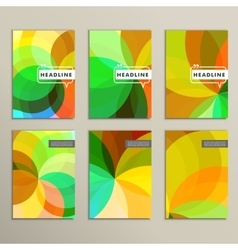Set 6 covers with abstract patterns vector