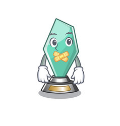 Silent acrylic trophy stored in cartoon drawer vector