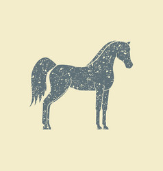 silhouette a horse vector image