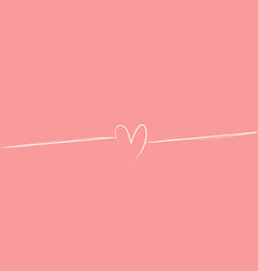 small white heart on soft pink background vector image