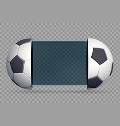 soccer scoreboard with sport balls vector image