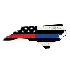 State north carolina police and firefighter vector