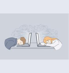 stress tiredness burnout concept vector image