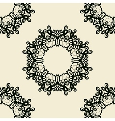 Stylized oriental lace seamless wallpaper vector