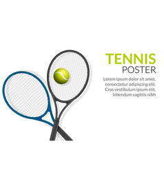 Tennis banner background ball racket vector