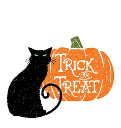 Trick or Treat Cat 2 vector image vector image