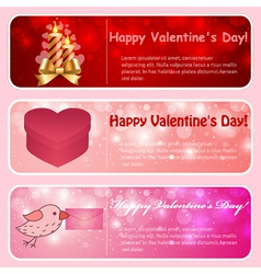 Valentine horizontal banners vector