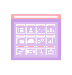 web folder interface opening storage vector image