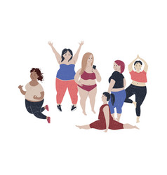 women different size and body proportions vector image