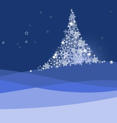 Xmas banner christmas tree vector image