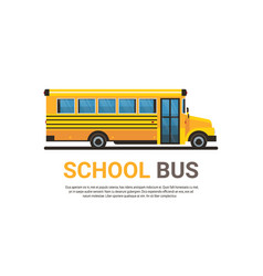 yellow bus back to school pupils transport concept vector image