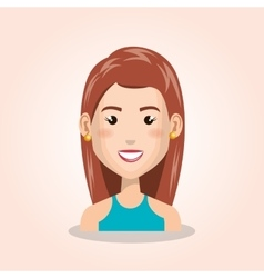 young woman avatar isolated icon vector image