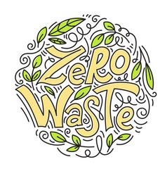 zero waste concept vector image