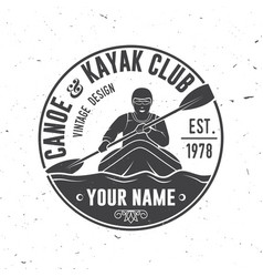 canoe and kayak club vector image vector image