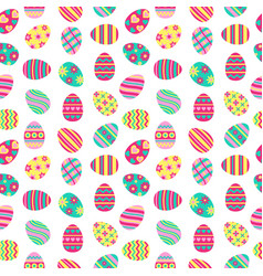 easter seamless pattern with painted eggs vector image vector image