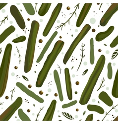 Green Canned Spicy Beans Seamless Pattern vector image