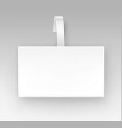 blank white square paper plastic price wobbler vector image vector image