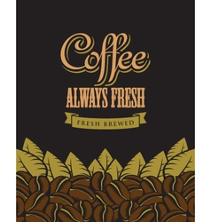 coffee fresh vector image vector image