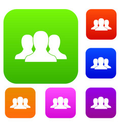group of people set collection vector image