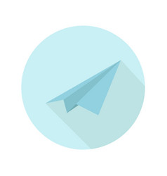 paper plane icon on white background vector image