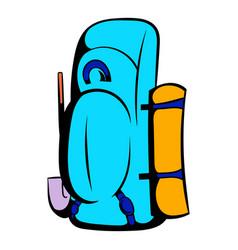 Blue cartoon icon icon cartoon vector