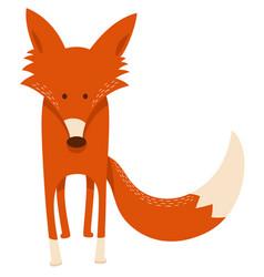 cute cartoon red fox animal character vector image