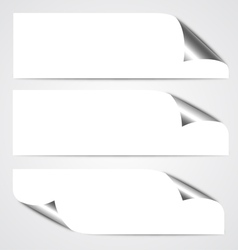 Paper Curl Banners vector image vector image