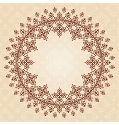 round brown vintage ornament vector image