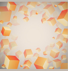 abstract 3d cubes pattern vector image vector image