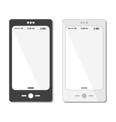 Black and white cell phone templates and icons vector image